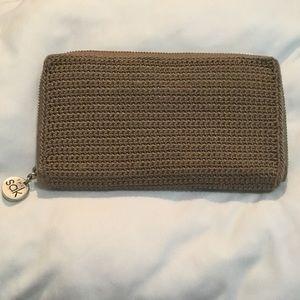 The SAK brown crochet wallet